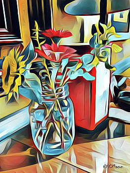 Flower on Cafe Table by Steven Macon