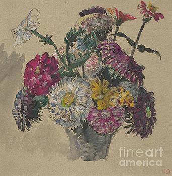 Ferdinand Victor Eugene Delacroix - Flowers, 1843 by Delacroix