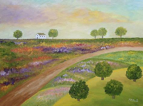 Flowers, Hazels And Oak-trees by Angeles M Pomata
