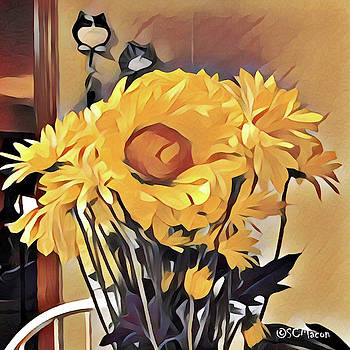 Flowers On Table by Steven Macon