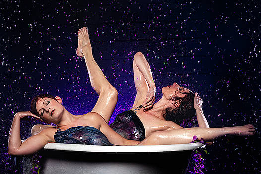 Dennis Dame - Achelois and Sister Bathing in the Galaxy