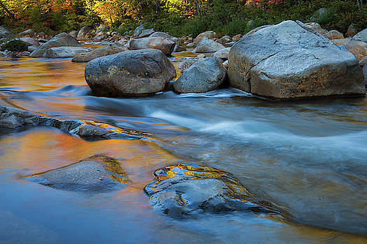 Cliff Wassmann - Flowing water in the Swift River  Kancamagus Highway