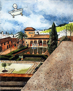 Flying My Bathtub Over the Alhambra by Pauline Lim