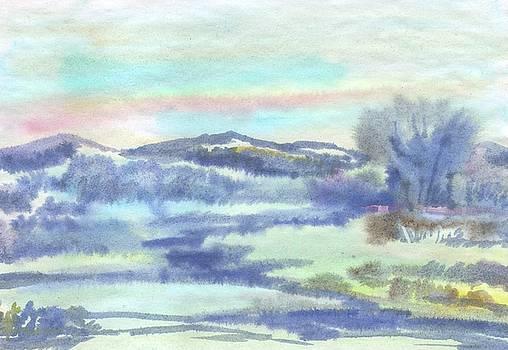 Fog early in the morning on the river by Irina Dobrotsvet