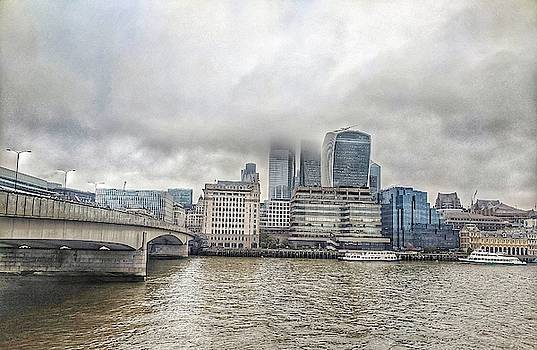 Fog on London Bridge Coastal Line by Zahra Majid