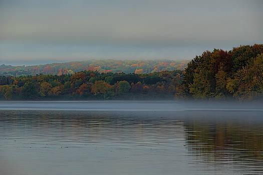 Dale Kauzlaric - Foggy Fall Afternoon On Lake Wausau