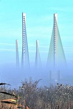 Foggy Morning at the Indian River Inlet Bridge by Kim Bemis