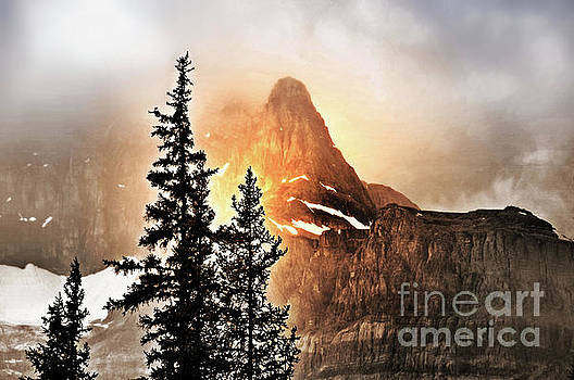 Foggy Mountain Sunlight by Elaine Manley