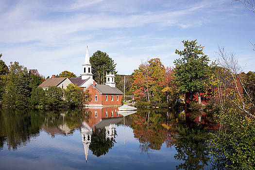 Foliage Season in Harrisville, New Hampshire by Morgain Bailey