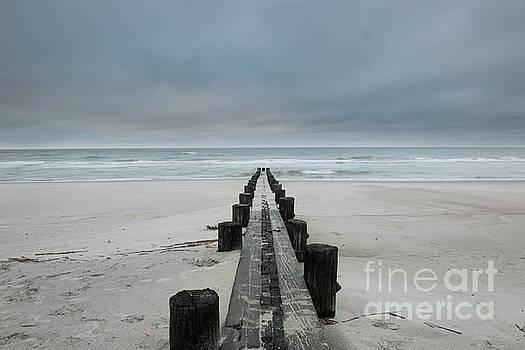 Folly Beach - Edge of America in Charleston South Carolina by Dale Powell