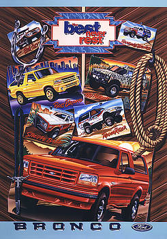 Ford Bronco Poster by Garth Glazier