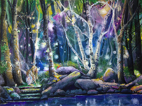 Forest at Night by Patricia Allingham Carlson