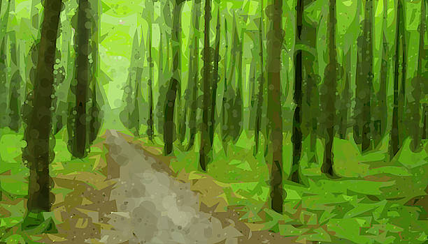 Forest Simplified and Circles by Tin Tran