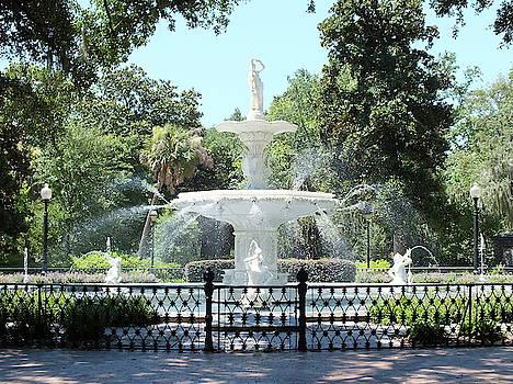 Forsyth Park Fountain in historic Savannah, Georgia -  by Joseph Hendrix