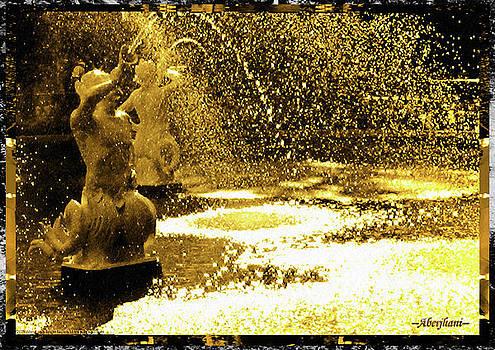 Aberjhani - Forsyth Park Tritons in a Cascade of Gold