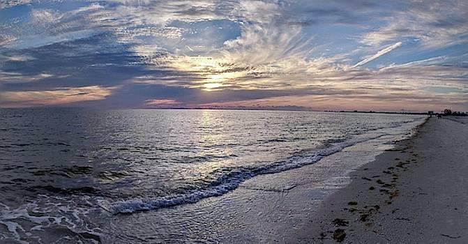 Fort Myers Beach Sunset by Julie Harrington