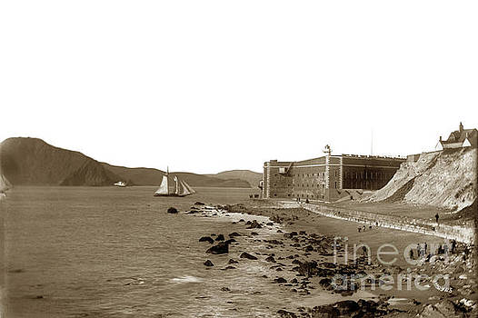 California Views Mr Pat Hathaway Archives - Fort Point, beach, sailing ship in channel of the Golden Gate.