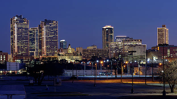Fort Worth Skyline 013019 by Rospotte Photography