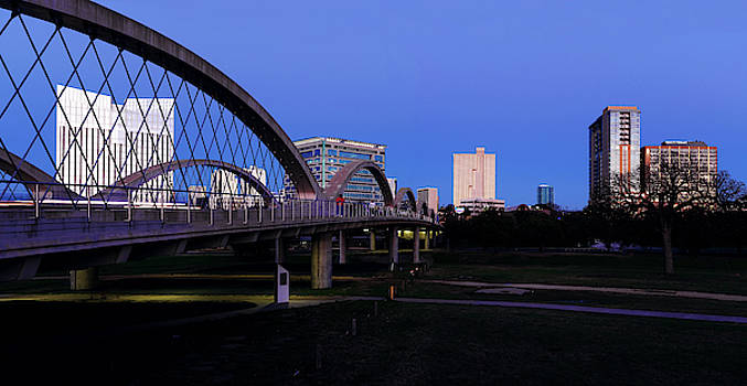 Fort Worth Skyline and Bridge 031419 by Rospotte Photography