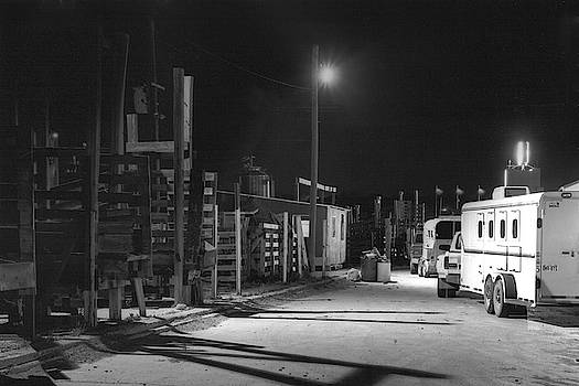 Fort Worth Stockyards at Night by Warren Gale