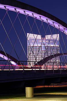 Fort Worth West Seventh Street Bridge V2 021419 by Rospotte Photography