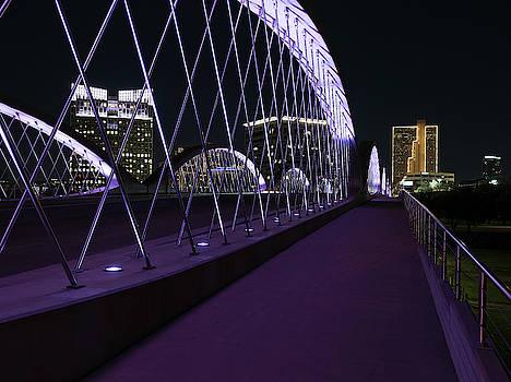 Fort Worth West Seventh Street Bridge V5 031319 by Rospotte Photography