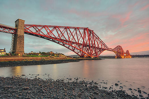Forth Rail Bridge Sunset by Ray Devlin
