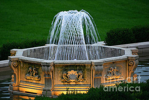 Fountain at Dusk by Cindy Manero