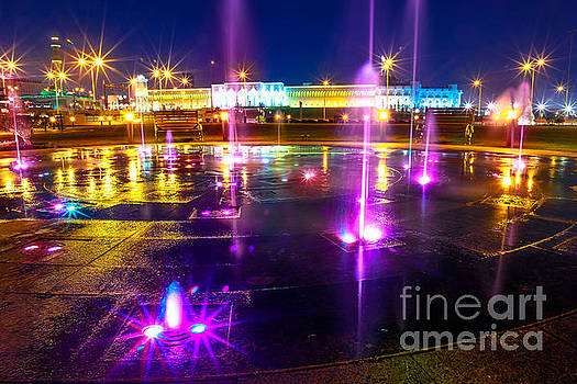Fountain at Souq Waqif Park by Benny Marty