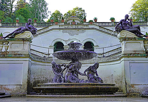 Fountain On The Grounds of Linderhof Palace In Germany by Richard Rosenshein