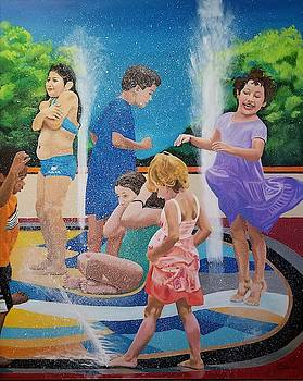 Fountain play by Tito Santiago