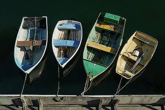 Four Dinghies by Steve Gadomski