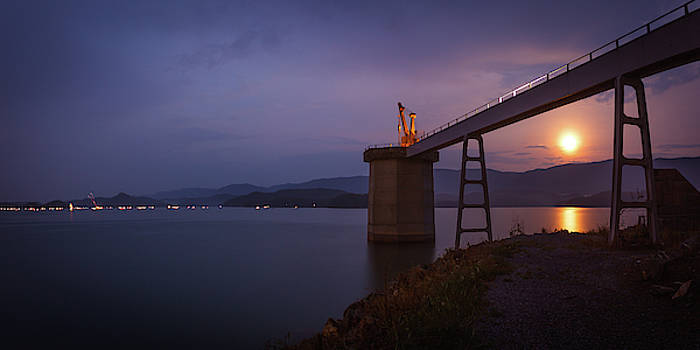 Fourth of July Moonrise at South Holston by Greg Booher