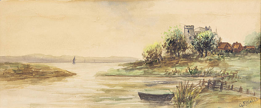 Fox River Boat 1909 by George Frederick Carl Waller