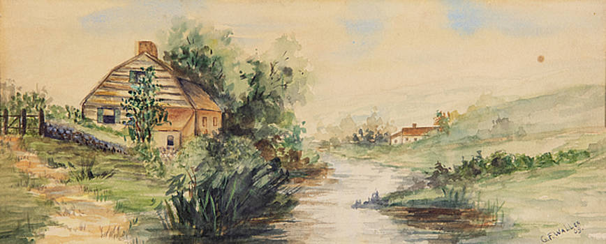 Fox River Cottage 1909 by George Frederick Carl Waller