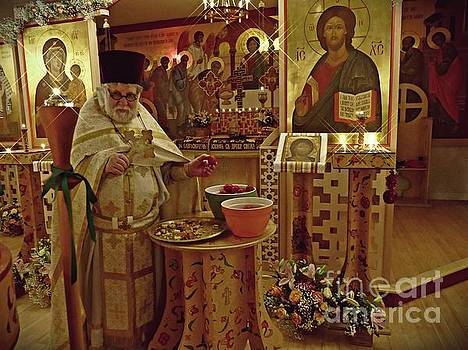 Fr Yakov and Easter Eggs   by Sarah Loft
