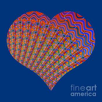 Rose Santuci-Sofranko - Fractal Abstract Heart Love at Sunset