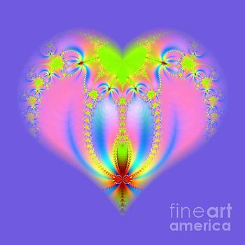 Rose Santuci-Sofranko - Fractal Abstract Heart New Springtime Love Blossoming
