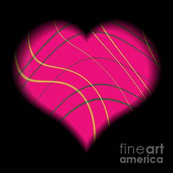 Rose Santuci-Sofranko - Fractal Abstract Heart on a String Love and Romance