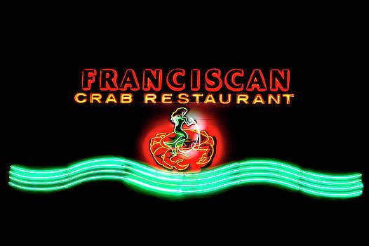 Franciscan Crab Restaurant Sign by Bonnie Follett