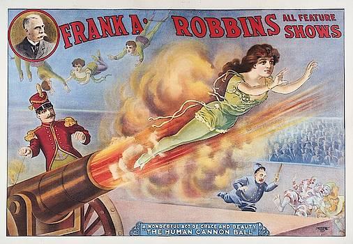 Franka Robbins Circus Show - Vintage Advertising Poster by Siva Ganesh