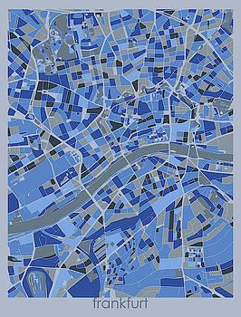 Frankfurt Map Retro 5 by Bekim M