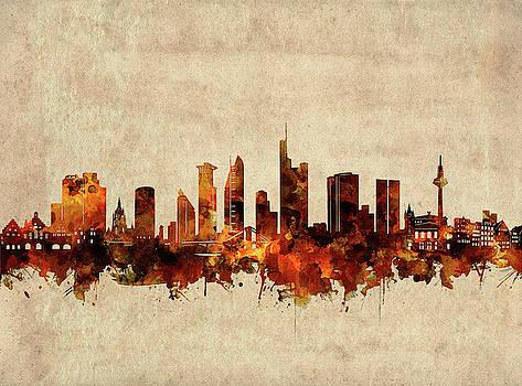 Frankfurt Skyline Sepia by Bekim Art