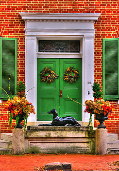 Frederick Maryland Historic District Series - ' Guess ' the Iron Dog Statue - West Church Street by Michael Mazaika