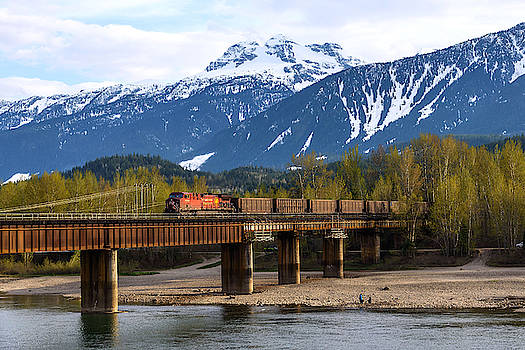 Freight Train Crossing The Columbia River by Keith Boone