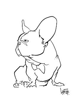 John LaFree - French Bulldog Gesture Sketch