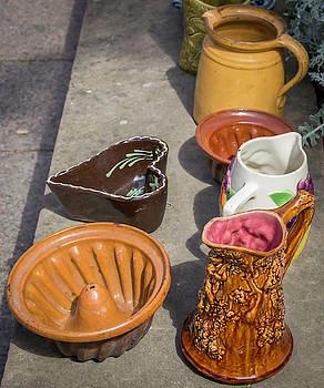 French Flea Market Pottery by Teresa Mucha
