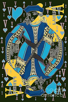 French Playing Card - Lahire, Valet De Coeur, Jack of Hearts Pop Art - #1  by Jean luc Comperat