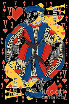 French Playing Card - Lahire, Valet De Coeur, Jack Of Hearts Pop Art - #2 by Jean luc Comperat