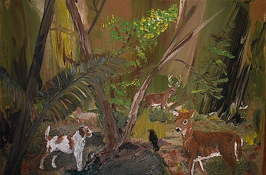 Friends in the forest by Susan Voidets